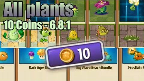 Plants vs. Zombies 2 - 10 Coins for Everything - Update 6.8.1