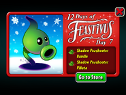 12 Days of Feastivus 2019 Day 7 Shadow Peashooter