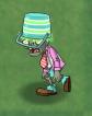 Shrunken Springening Buckethead Zombie