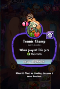 Tennis Champ Card