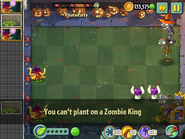 Can't Plant on Zombie King