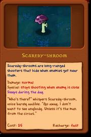 New Scaredy-Shroom almanac