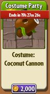 Coconut Cannon Costume Party