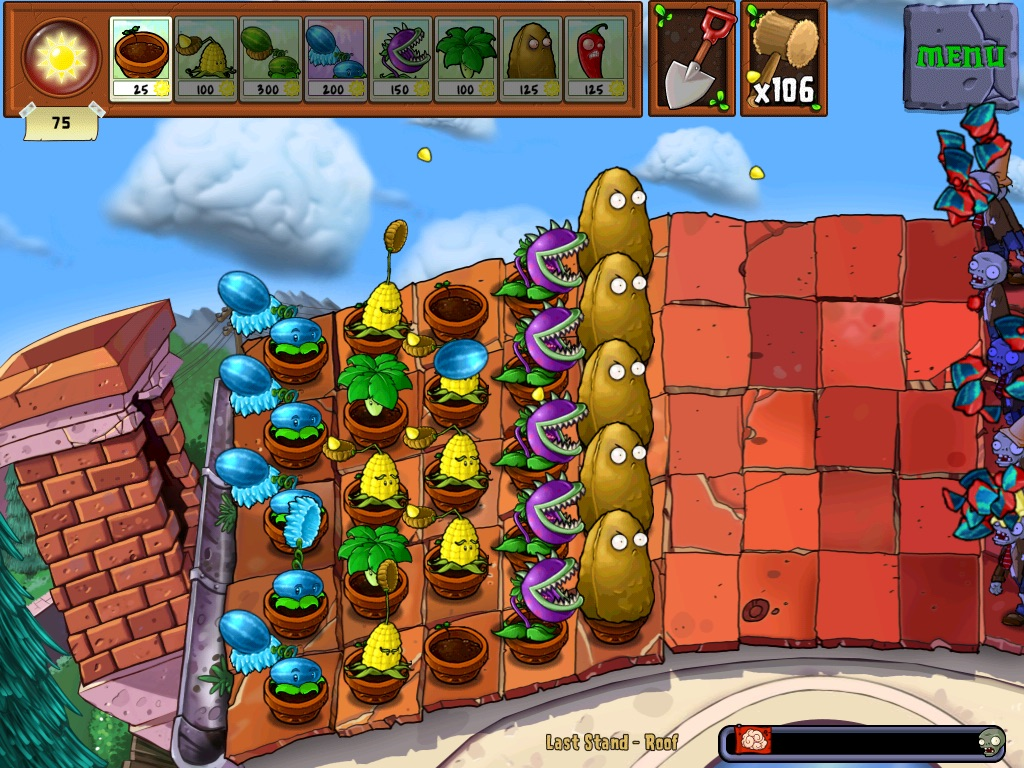 Last Stand: Roof | Plants vs  Zombies Wiki | FANDOM powered by Wikia