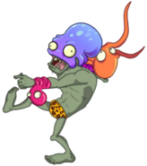 Octo Zombie about to throw an octopus