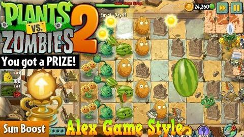 Plants vs. Zombies 2 Prize - Sun Boost Ancient Egypt Day 21 (Ep