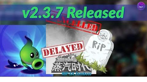 2.3.7 Update Released, RIP STEAM AGES BOSS ! Shadow Peashooter ! -PvZ2 Chinese Version SA Update