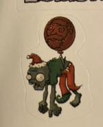 Balloon santa sticker