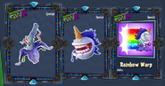 Unicorn chomper stickers