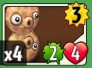Pea-nut card