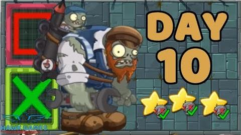 Plants vs Zombies 2 China - Steam Ages Day 10 Far Future Tiles 《植物大战僵尸2》- 蒸汽时代 10天