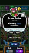 Rescue Radish stats