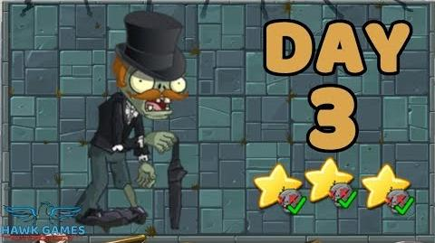 Plants vs Zombies 2 China - Steam Ages Day 3 Gentleman Zombie 《植物大战僵尸2》- 蒸汽时代 3天