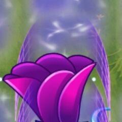 Một cây Moonflower được tăng sức mạnh tối đa và tạo ra trường lực bảo vệ sau khi được cho Plant Food