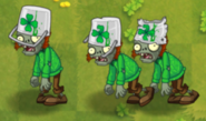 Luck O' the Buckethead Zombie with all degrades