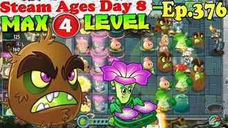 Plants vs. Zombies 2 (China) - Kiwibeast MAX 4 level - Steam Ages Day 8 (Ep.376)