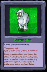 Almanac Card Zombie Yeti