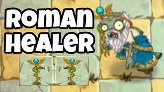 Roman Healer Zombie Test Gameplay Ability Plants vs Zombies 2