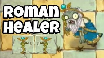 Roman Healer Zombie Test Gameplay Ability Plants vs Zombies 2