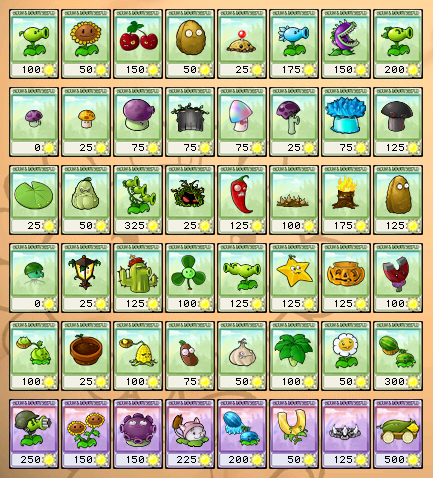 image all plant seed packets png plants vs zombies wiki