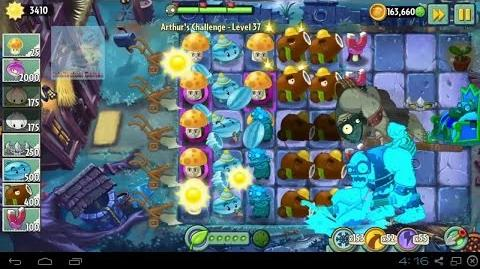 Arthur's Challenge Level 36 to 40 Plants vs Zombies 2 Dark Ages