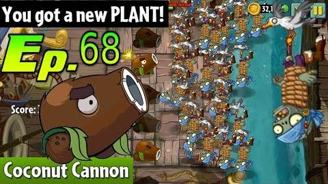 Plants vs. Zombies 2 Got a New Plant Coconut Cannon Pirate Seas Day 11 (Ep