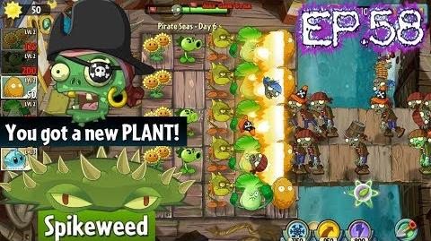 Plants vs. Zombies 2 Got a New Plant Spikeweed Pirate Seas Day 6 (Ep