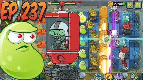 Plants vs. Zombies 2 New Shield Zombie - Far Future Day 2 (Ep