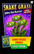 Snake Grass in Early Access Bundle PvZH