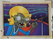 Blue roller zombie sticker