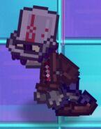 Poisoned 8-bit Buckethead Zombie