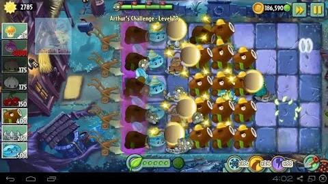Arthur's Challenge Level 81 to 85 Plants vs Zombies 2 Dark Ages