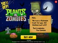 Plantsvs.ZombiesHalloweenAdvertisement