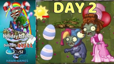 Holiday Mashup World 😎 - Plants vs Zombies 2 🌻 - Day 2 Easy (Spend no more than 2500 Sun)