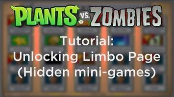 How to access the Limbo Page (hidden mini-games) in Plants vs