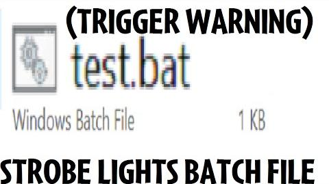 A weird BAT file (TRIGGER WARNING)