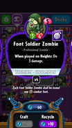 Foot Soldier Zombie stats