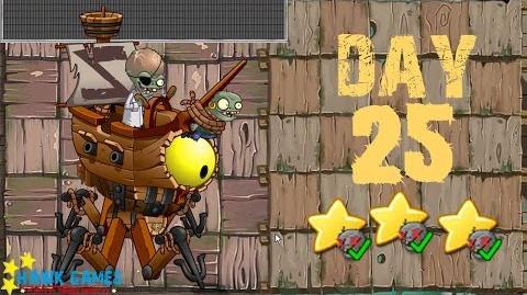 Plants vs. Zombies 2 China - Pirate Seas Day 25 BOSS《植物大战僵尸2》- 海盗湾 25天