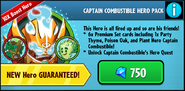 Captain Combistible hero pack