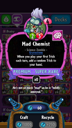 Mad Chemist stats
