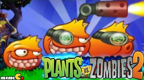 Plants Vs Zombies 2 New Plants Pomegranate Max Level-1