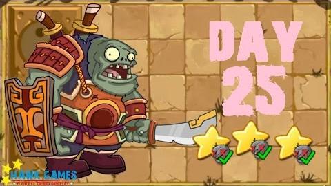 Plants vs. Zombies 2 China - Kongfu World Day 25 BOSS《植物大战僵尸2》- 功夫世界 25天