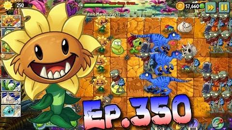 Plants vs. Zombies 2 Got a new Plant Primal Sunflower - Jurassic Marsh Day 17 (Ep