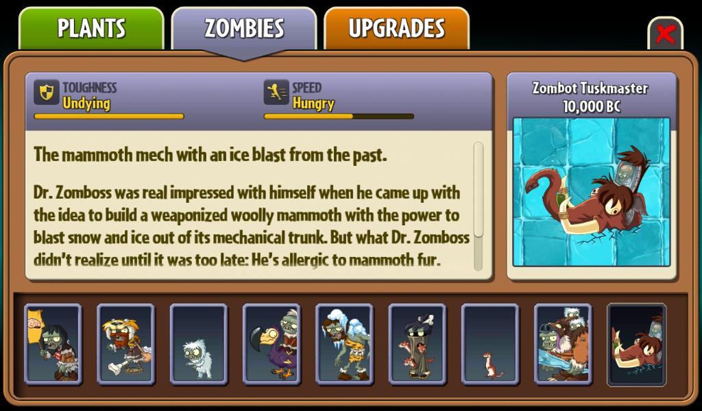 Zombot Tuskmaster 10,000 BC   Plants vs  Zombies Wiki