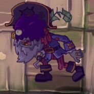 Poisoned Pirate Captain Zombie