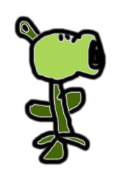 BADLY DRAWN PEASHOOTER BY LEO