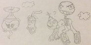 Rotobaga Flying With Ghost Pepper And Balloon Zombie