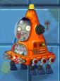 Shrunken Robo-Cone Zombie