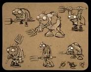Farm zombie pitchfork sheet 1 - ArtofReanimPvZ2