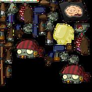 Zombie pirate basic flagsprites